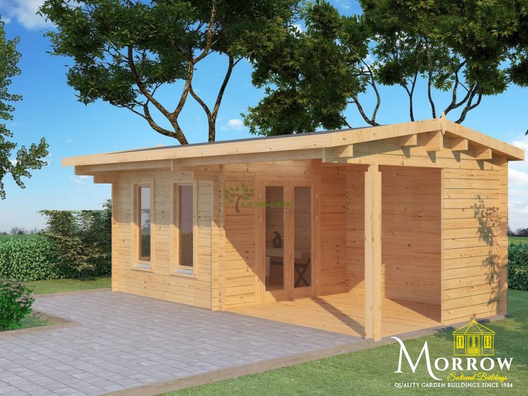 4.75m x 2.95m Ultimate Home Office Log Cabin